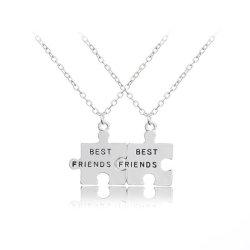 Silber Best Friends Friendship Halskette Mit Anhänger Aus Alloy Set