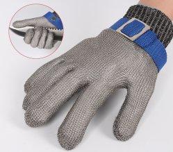 Beständigen Handschuh-Rostfreien Stahldraht-Metallineinander greifen-Metzger-Sicherheits-Arbeits-Handschuh für Fleisch-Ausschnitt, Fischen schneiden