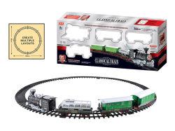 Deluxe batteriebetriebene klassische Serien-heiße verkaufende Bahnserie stellte mit Licht und Musik ein