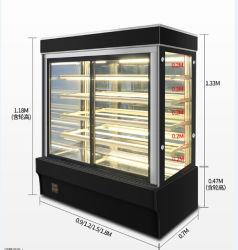 Couvercle en verre incurvé vitrine à gâteaux réfrigérés vitrine réfrigérée armoire d'affichage de gâteau