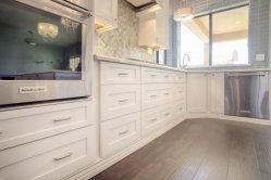 País de América de gama alta de PVC blanco puro estilo kitchen cabinet