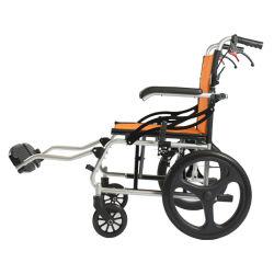 Liga de Alumínio dobrável e leve para a cadeira de rodas manual econômica para pessoas deficientes