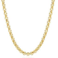 Großhandel 18K vergoldet großen runden Ring Messing Link Chunky Kette
