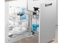 Diseño modular esquina Wellmax ciego Cesta de la PTJ017er Accesorios para armario de cocina