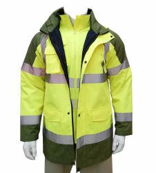 4 in 1 Mens-Sicherheits-Arbeits-Umhüllungen-Sicherheit kleidet reflektierende Arbeitskleidungs-Umhüllungen