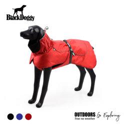 Coton Rouge veste de remplissage de l'hiver chaud Chien Vêtements de protection de manteau de PET