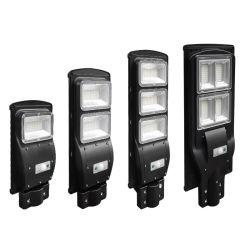 La calle del sensor LED de iluminación Solar Panel jardín de césped lámparas Lámpara de ahorro de energía de las inundaciones de proyectores de iluminación exterior del sistema de alimentación Generadores poste de hierro fundido de la luz de 120W