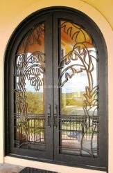鉄の内部の贅沢な通関手続きの前ドア