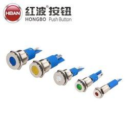 Hبان CE RoHS 6 8 12 14 مم من Antivandal Metal IP67 مصباح إشارة LED المقاوم للمياه