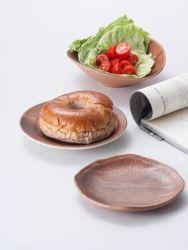 Melamin-runde Platte/hölzerner Art-Teller/Essgeschirr (NK13808-06)