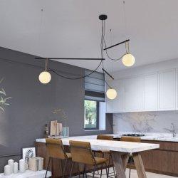 Illuminazione domestica nordica industriale di vetro della lampada Pendant della decorazione del dispositivo del ristorante chiaro Pendant moderno del caffè (DW-D0085)