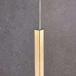 304 316 PVD 컬러 코팅 스테인리스 스틸 L 모양 프로파일 벽면 패널 가장자리 장식용으로 사용됩니다