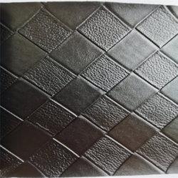 PVC Leather&#160 artificiale di uso dei bagagli della valigia del sacchetto del reticolo tessuto il nero;