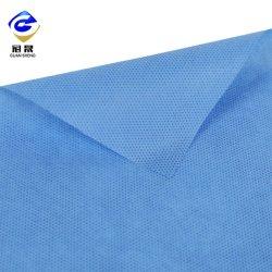 50GSM 100% de poliéster branco Spunbond antiestático Nonwoven Fabric para vestuário de protecção
