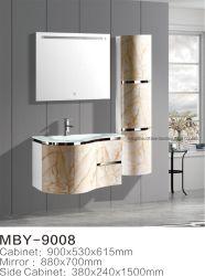 PVC Badezimmer Eitelkeit Schrank Möbel mit Glasbecken