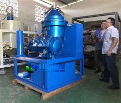 Centrifugação do tratamento de separação de óleo para limpeza de óleo combustível pesado