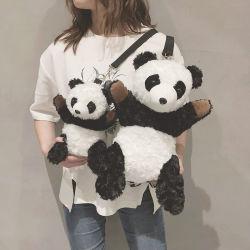 Sacchetto di spalla su ordinazione di modo del sacchetto del messaggero della bambola del panda del fumetto dello zaino dello zaino sveglio a doppio uso della peluche