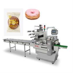 Strumentazione impaccante del pacchetto di flusso del cuscino dell'imballaggio multifunzionale automatico del sacchetto per il bagel/ciambella/l$signor ciambella/panini dolci/bagel/Cronut