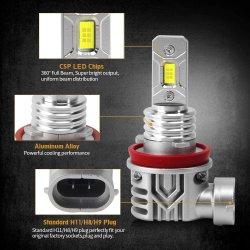 Светодиодные лампы противотуманного фонаря Canbus пользуйтесь функцией Настройки питания 80W 3600лм очень яркий Csp микросхемы светодиодные системы освещения дневного движения лампа комплект для переоборудования 6500K ксеноновые белый DC 12-30V