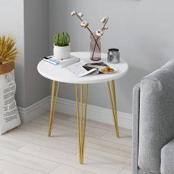 عرض أثاث غرفة معيشة طاولة جديدة معدنية أنيقة طاولة أريكة جانبية