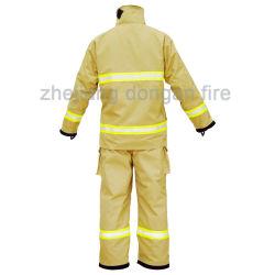 En-Standard vier Schichten Feuerwehrmann-feuerbeständige Klage-feuerbekämpfende Schutzkleidung-
