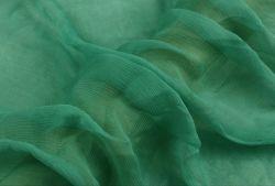 100 Tecidos de seda pura Crepon Têxteis anilha ondulada Georgette 4,5 m/m Green
