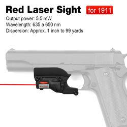 Het tactische Mini Rode Gezicht van de Laser voor het Pistool van 1911