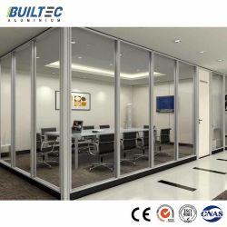 Los materiales de construcción, revestimiento de polvo de aluminio Panel de pared de cristal de la partición de oficina