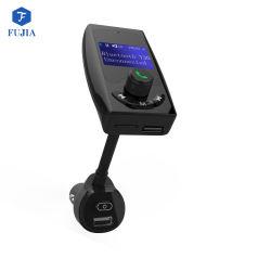 Émetteur FM de radio sans fil Bluetooth Adaptateur Kit voiture mains libres avec 1,44 pouces QC3.0 2.4A Smart et deux ports USB Aux entrée/ sortie TF Voiture