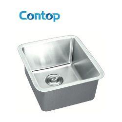 Sous bassin de cuisine d'acier inoxydable de radius de cuvette simple de support le petit