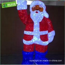 LEIDENE van LEIDENE Kerstmis van het Motief de Decoratie van de Lichte Vakantie van de Kerstman