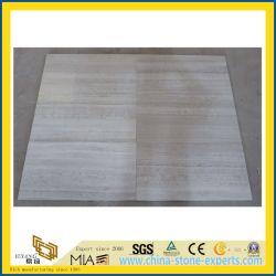 Kitchenのための白いWood Grain Stone MarbleかBathroom Wall及びFloor Tiles