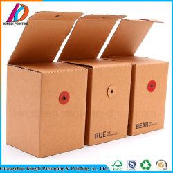 Petite boîte d'emballage en papier kraft brun pour les mini-Honey Jam bouteille/Bouteille de verre/tasse à café/thé