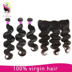 A onda do corpo Virgem Brasileira Remy de cabelo humano de tafetá com colisão frontal