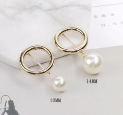 Mode bijoux perlés de métal Pearl broches Broche Vêtements châle de décoration