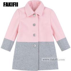 方法赤ん坊の衣類の子供の衣服の冬の女の子のピンクのウールのコートのかわいい子供の摩耗