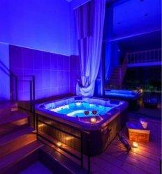 Nice spa banheira de hidromassagem para 6 Pessoa Jacuzzi Banheira de Hidromassagem SPA exterior