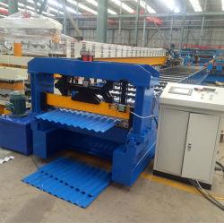 Telhas Onduladas Painel de aço galvanizado fazendo a máquina com marcação CE