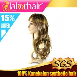 Caliente-resistente 100% Pelucas sintéticas del pelo de Kanekalon