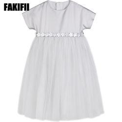 2019 bambini di usura del bambino personalizzati fabbrica di estate che coprono il cotone grigio del vestito dalla maglia della ragazza scherza l'abito
