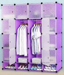 غرفة معيشة بيع خزانة ملابس، خزانة بلاستيكية مع ملابس، عمود لهجر، دواليب ملابس ذات لوحة PP قابلة للطي من النوع PP، غرف نوم قابلة للطي من النوع (EP-06)