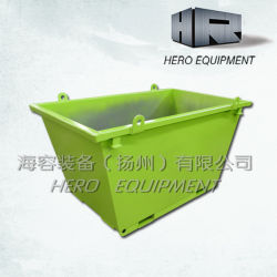 1,2 m de piscina a reciclagem de resíduos de aço de contentores de lixo Skip bins