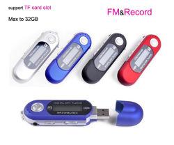 Radio FM, construido en el Pila AAA Reproductor de MP3 USB con la grabadora