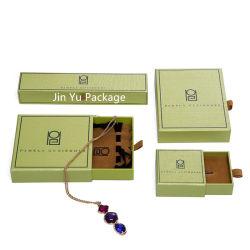 Handgemachtes Pape Geschenk-Schmucksache-Fach-verpackenkasten mit Samt-Beutel