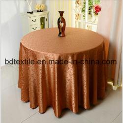 100%Polyester JACQUARD Tissu de la Table ronde de mariage de fantaisie