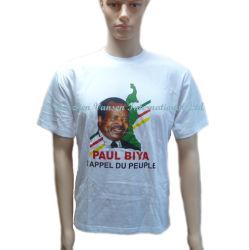 Реклама пустые футболки футболки для голосования с помощью пользовательских печать логотипа