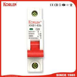 ミニチュア回路ブレーカMCB Knb1-63-2014 3ka /6ka C1-5A、C6-25A、C32-63A 1p、1p+N、3p 3+N、4p