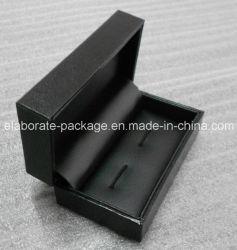 Bon marché noir de l'emballage Cufflink boîte cadeau Bijoux Boîte de package