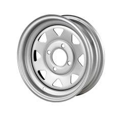سعر جيد عجلات مجلفنة ذات 8 قضبان عجلات المقطورة الفولاذية