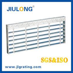 Acier galvanisé à chaud de multiples cas de l'Escalier de type industriel galvanisé Bande de roulement de l'escalier de la Chine Jiulong grincement